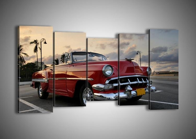 Auto Wall Art – Wall Murals Ideas With Regard To Classic Car Wall Art (Image 3 of 20)