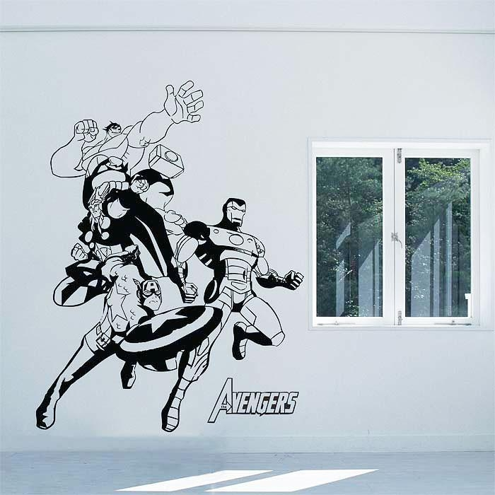 Avengers Vinyl Wall Art Decal In Tattoo Wall Art (View 19 of 20)
