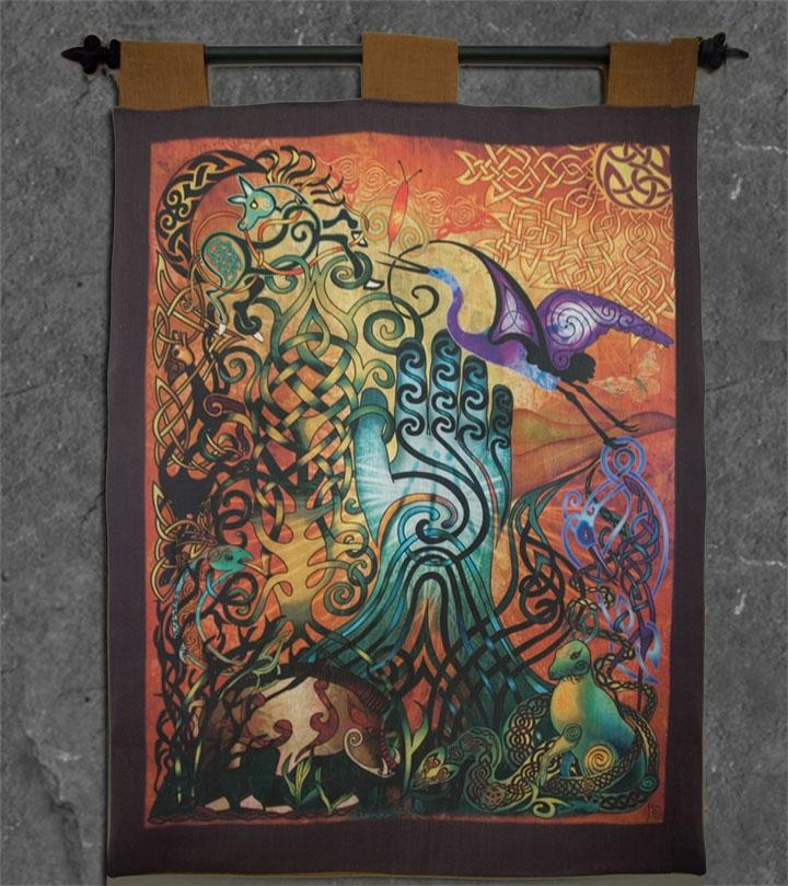 Awen Wall Hanging Celtic Artwelsh Artist Jen Delyth – Official Inside Celtic Tree Of Life Wall Art (Image 5 of 20)