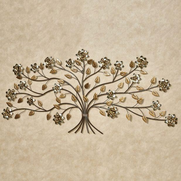 Awesome Metal Tree Wall Art Sculpture Uk Bellissa Floral Branch Inside Tree Sculpture Wall Art (Image 6 of 20)