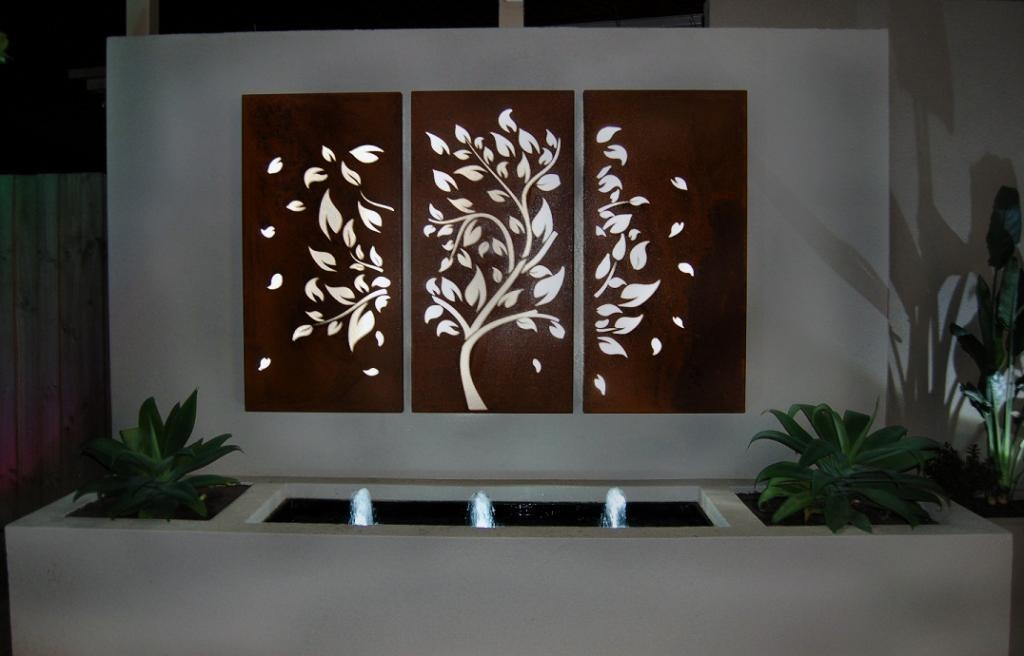 Awesome Outdoor Wall Art Decoration | Eva Furniture Intended For Modern Outdoor Wall Art (Image 3 of 20)