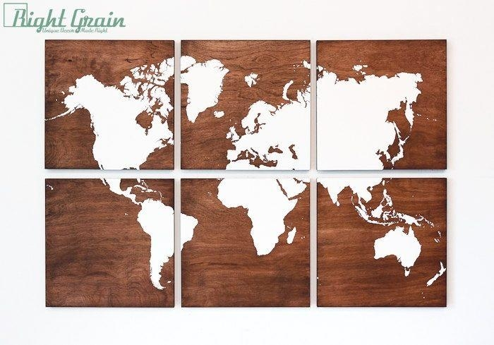 Awesome Wooden World Map Wall Art | Best Office Chair Blog's For World Map Wood Wall Art (Image 2 of 20)