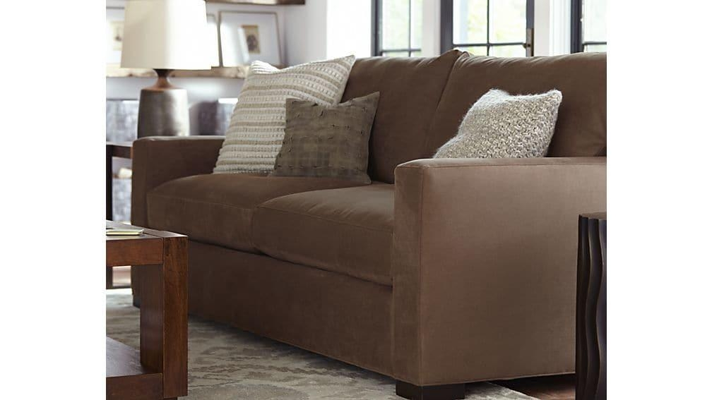 Axis Ii 2 Seat Brown Sleeper Sofa | Crate And Barrel Regarding Crate And Barrel Sleeper Sofas (Image 1 of 20)