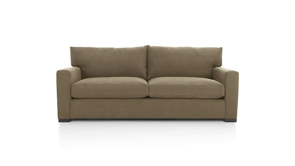 Axis Ii 2 Seat Brown Sleeper Sofa | Crate And Barrel Throughout Crate And Barrel Sofa Sleepers (Image 1 of 20)