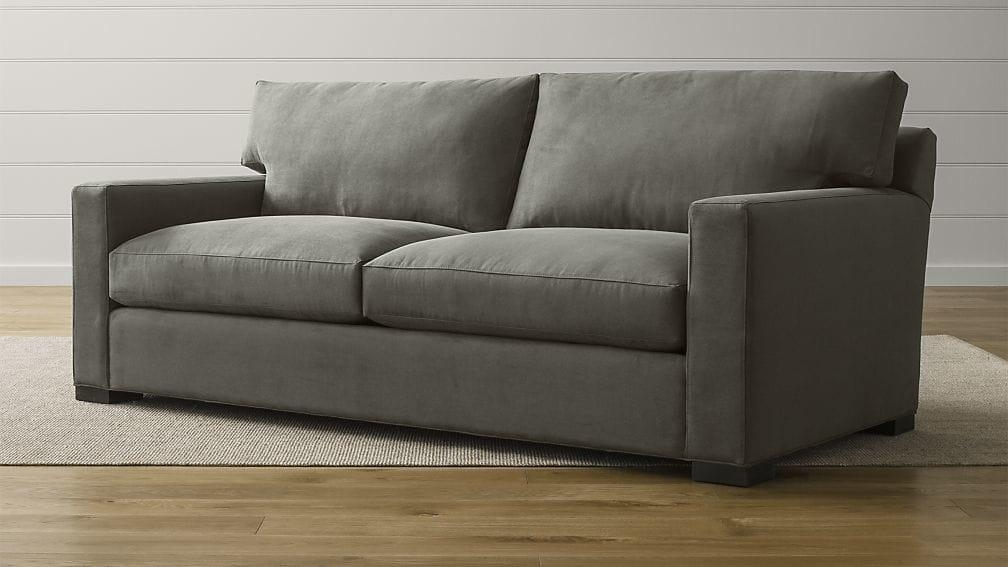 Axis Ii Dark Grey Sleeper Sofa | Crate And Barrel With Crate And Barrel Sofa Sleepers (Image 3 of 20)