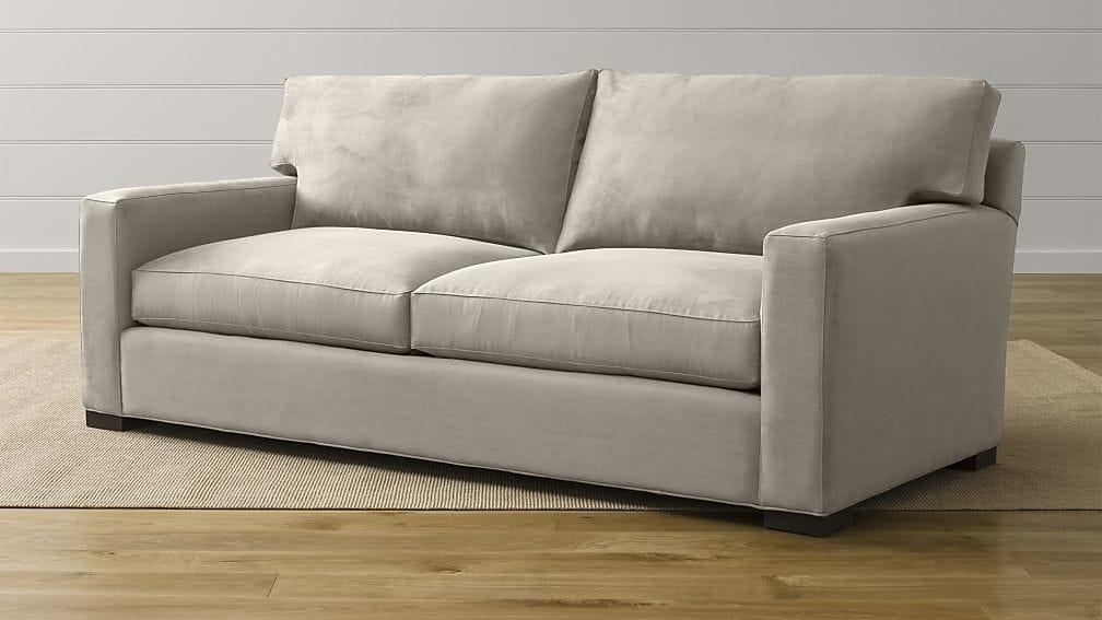 Axis Ii Light Grey Sleeper Sofa | Crate And Barrel Pertaining To Crate And Barrel Sofa Sleepers (Image 4 of 20)