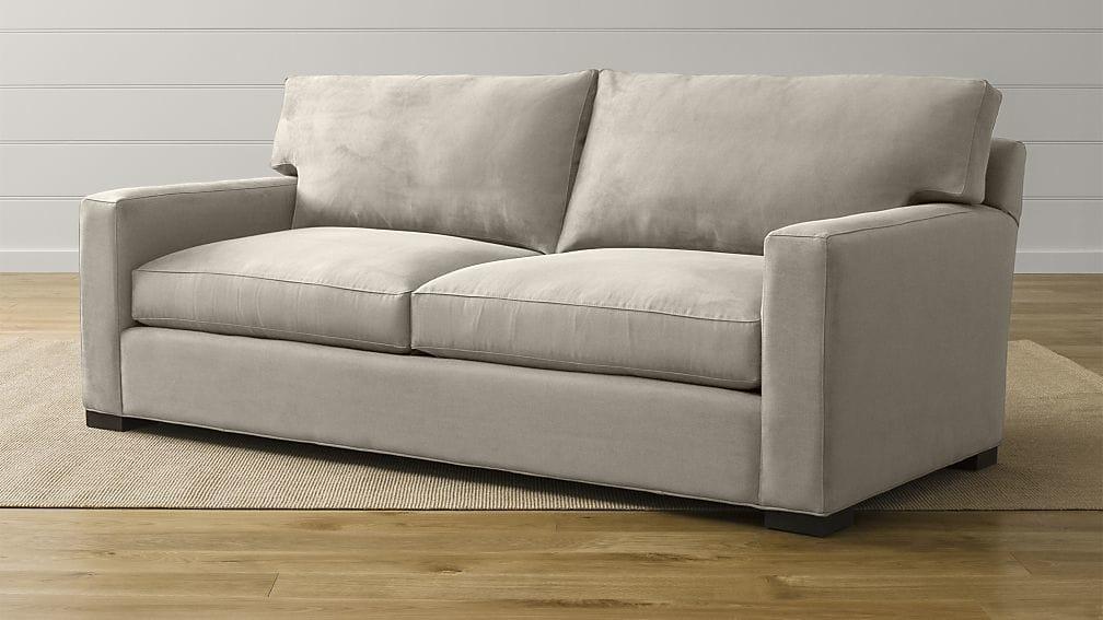 Axis Ii Light Grey Sleeper Sofa | Crate And Barrel Pertaining To Crate And Barrel Sofa Sleepers (View 7 of 20)