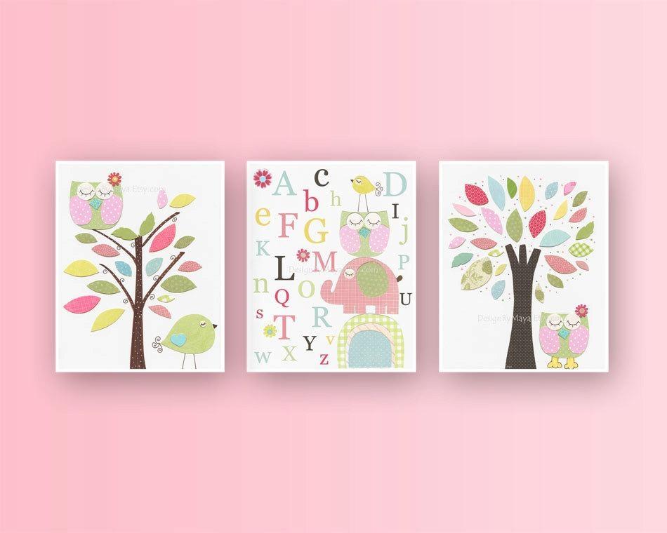 Baby Girl Room Ideas: Nursery Wall Art Print For Girls Baby With Wall Art For Girls (Image 5 of 20)
