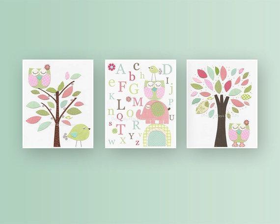 Baby Nursery Decor: Adorable Ideas Baby Girl Nursery Wall Art Regarding Nursery Wall Art (View 13 of 20)