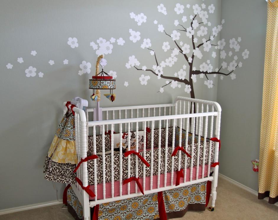 Baby Nursery Decor: Luxury Sakura Baby Wall Art For Nursery With Nursery Wall Art (View 20 of 20)