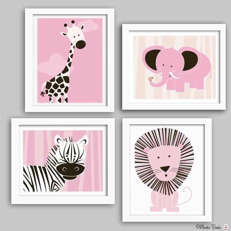 Baby Nursery Decor: Three Baby Nursery Wall Art Panel Simple Trees With Nursery Wall Art (View 6 of 20)