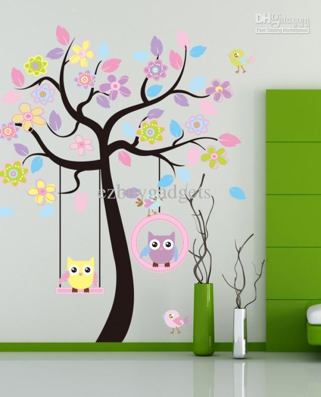 Baby Nursery Decor: Trees Baby Nursery Wall Art Stickers Simple With Nursery Wall Art (View 11 of 20)