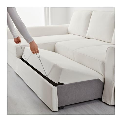 Backabro Sofa Bed With Chaise Longue – Nordvalla Dark Grey – Ikea Inside Chaise Longue Sofa Beds (Image 2 of 20)