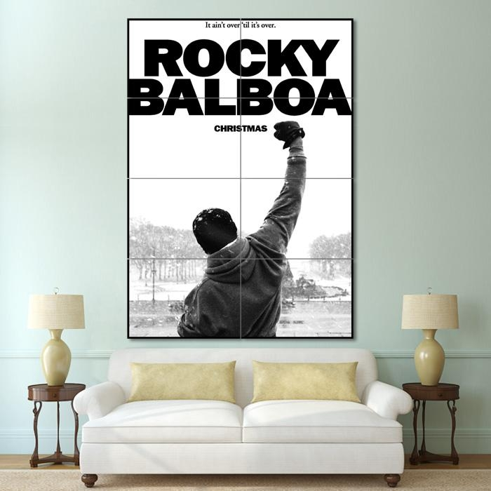 Balboa Boxing Block Giant Wall Art Poster Throughout Rocky Balboa Wall Art (Image 7 of 20)