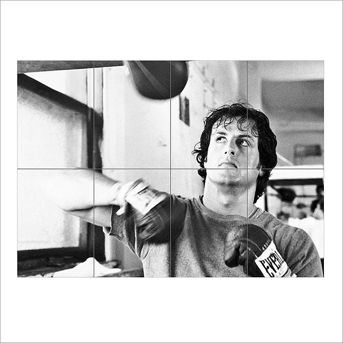 Balboa Sylvester Stallone Block Giant Wall Art Poster Within Rocky Balboa Wall Art (Image 9 of 20)