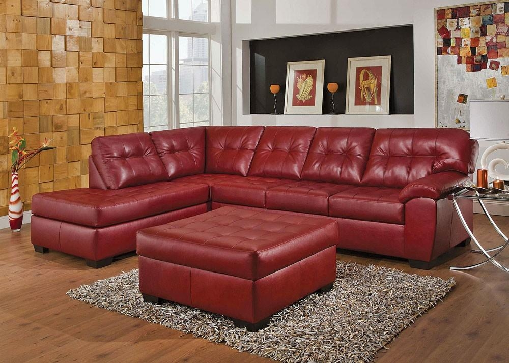 Baltimore Contemporary Sectional Sofa Pertaining To Burgundy Sectional Sofas (View 2 of 20)