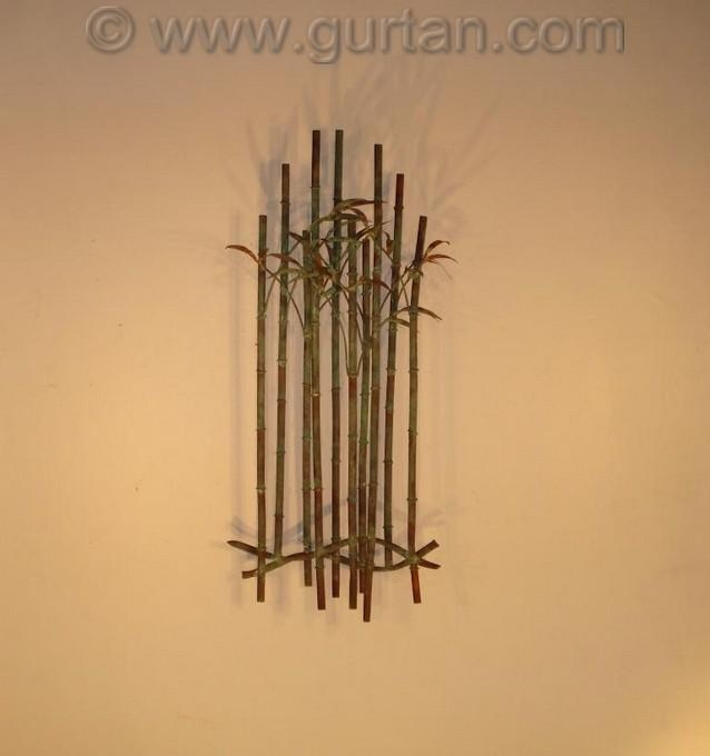 Bamboo – Wall Art – Metal Sculpture – Metal Decor With Regard To Bamboo Metal Wall Art (View 7 of 20)
