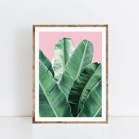 Banana Leaf Wall Art Banana Leaf Palm Leaf Banana Leaf Inside Palm Leaf Wall Art (View 6 of 20)