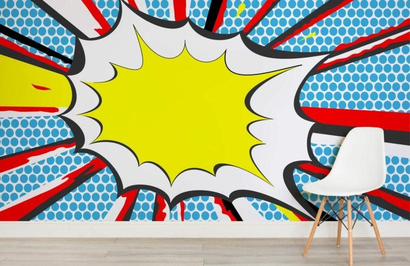 Bang Pop Art Wallpaper Wall Mural | Muralswallpaper.co (View 3 of 20)