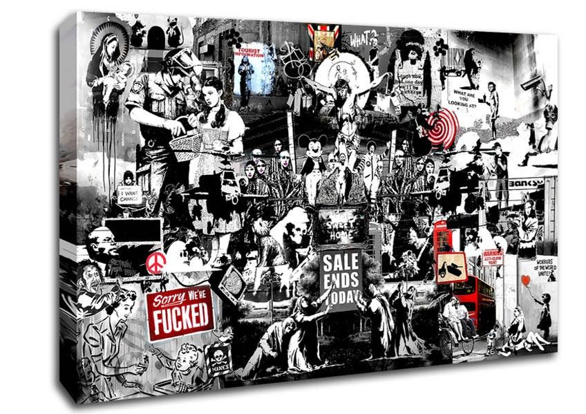 Banksy Canvas Art | Wallartdirect.co (Image 7 of 20)