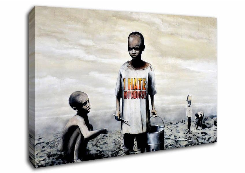 Banksy Canvas Wall Art – Armadine Regarding Banksy Wall Art Canvas (View 15 of 20)