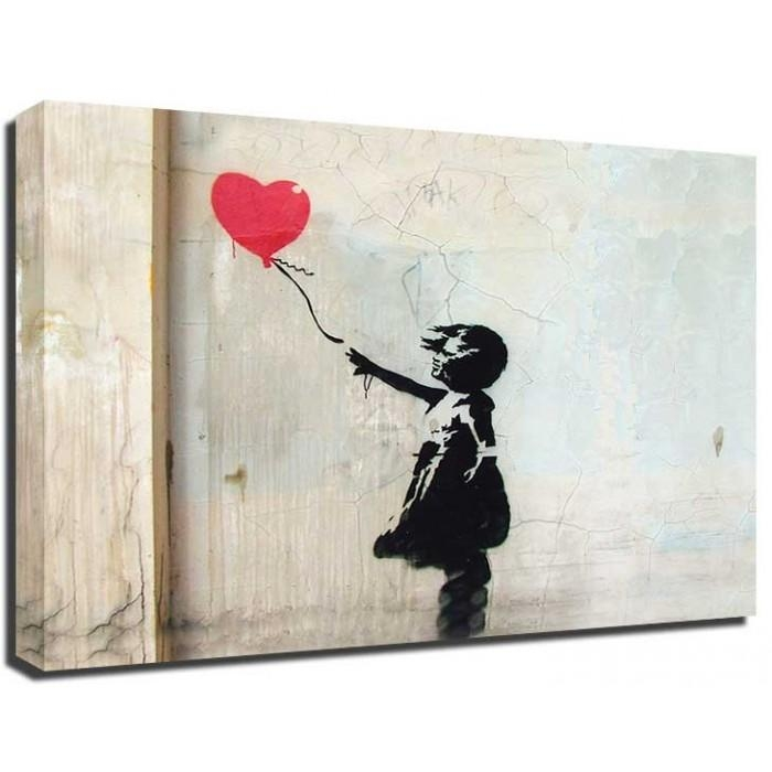Banksy Canvas With Banksy Canvas Wall Art (Image 8 of 20)