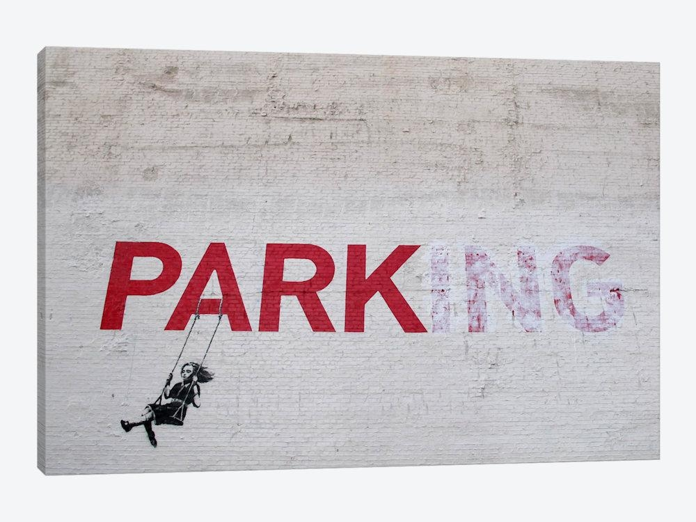 Banksy Parking Girl Swing Canvas Wall Artbanksy | Icanvas In Banksy Canvas Wall Art (Image 10 of 20)
