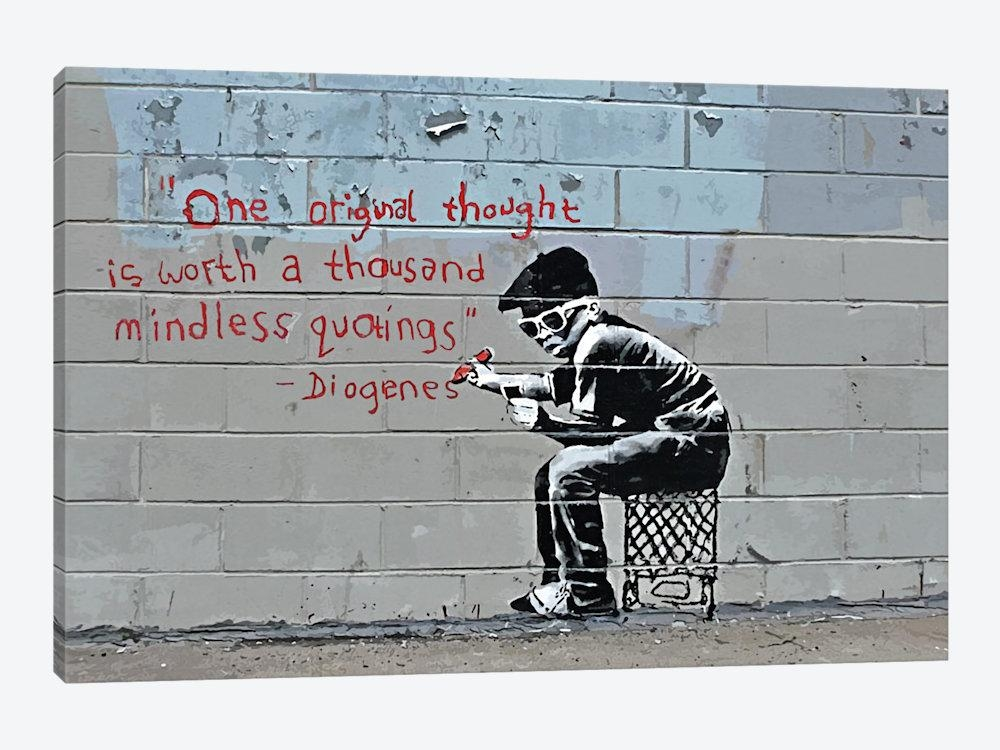 Banksy Prints On Canvas – Banksy Graffiti And Street Art | Icanvas With Regard To Banksy Canvas Wall Art (Image 11 of 20)