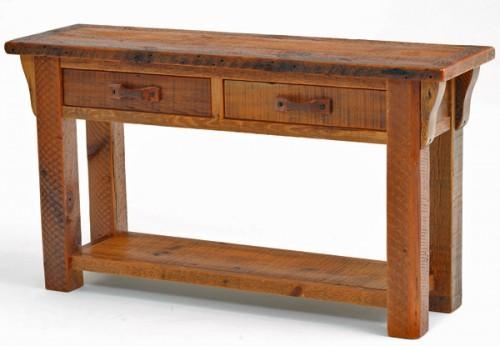 Barnwood Sideboards & Sofa Tables | Farm, Mountain Furniture Décor For Barnwood Sofa Tables (Image 3 of 20)