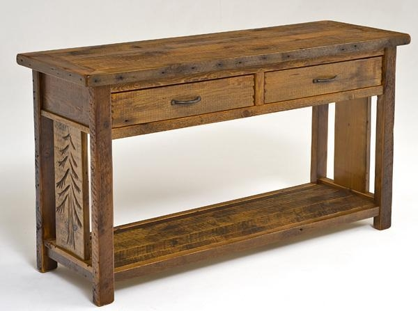 Barnwood Sideboards & Sofa Tables | Farm, Mountain Furniture Décor In Barnwood Sofa Tables (Image 4 of 20)