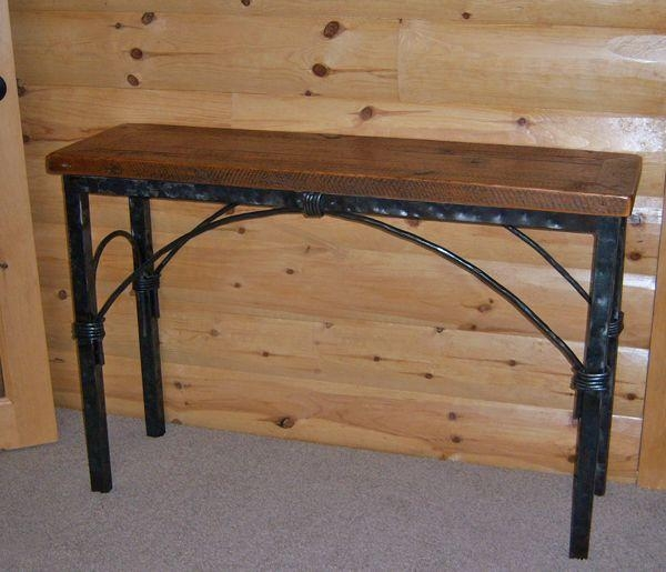 Barnwood Sideboards & Sofa Tables | Farm, Mountain Furniture Décor Regarding Barnwood Sofa Tables (Image 5 of 20)