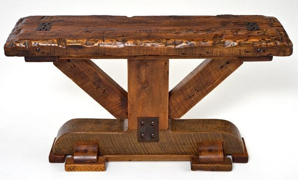 Barnwood Sideboards & Sofa Tables | Farm, Mountain Furniture Décor Regarding Barnwood Sofa Tables (Image 6 of 20)