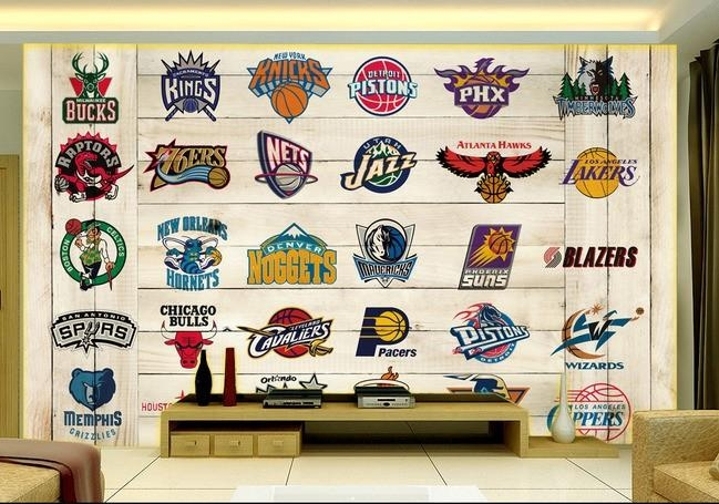 Basketball Wall Murals Promotion Shop For Promotional Basketball Pertaining To Nba Wall Murals (View 6 of 20)