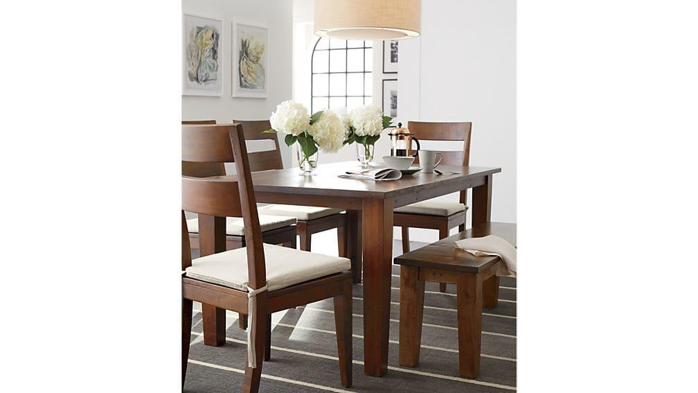 Basque Honey Dining Tables | Crate And Barrel Inside Crate And Barrel Sofa Tables (Image 2 of 20)