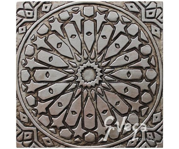 Bathroom Wall Art With Moroccan Design // Ceramic Tile // Pertaining To Moroccan Metal Wall Art (Image 7 of 20)