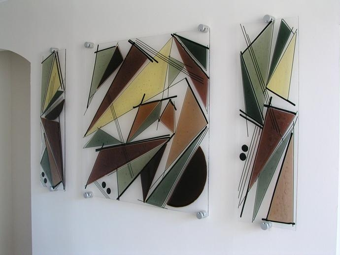 Bathroom Wall Decorations: Glass Wall Art In Glass Wall Art Panels (Image 7 of 20)