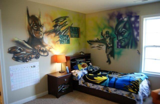 Batman Legacy Mural Airbrush/ink | Saintworksart Art Of Matthew Throughout Airbrush Wall Art (View 3 of 20)