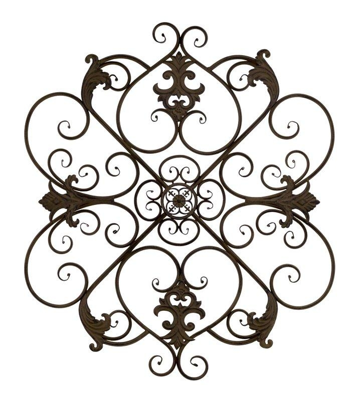 Bayaccents Wrought Iron Fleur De Lis Wall Decor & Reviews | Wayfair Within Fleur De Lis Metal Wall Art (Image 5 of 20)