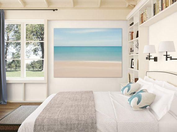 Beach Decor Canvas Gallery Wrap Abstract Ocean Photo Large With Regard To Beach Wall Art For Bedroom (Image 13 of 20)