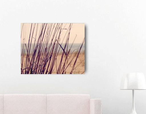 Beach Grass On Gallery Wrapped Canvas | Large Nautical Wall Decor Pertaining To Coastal Wall Art Canvas (Image 5 of 20)