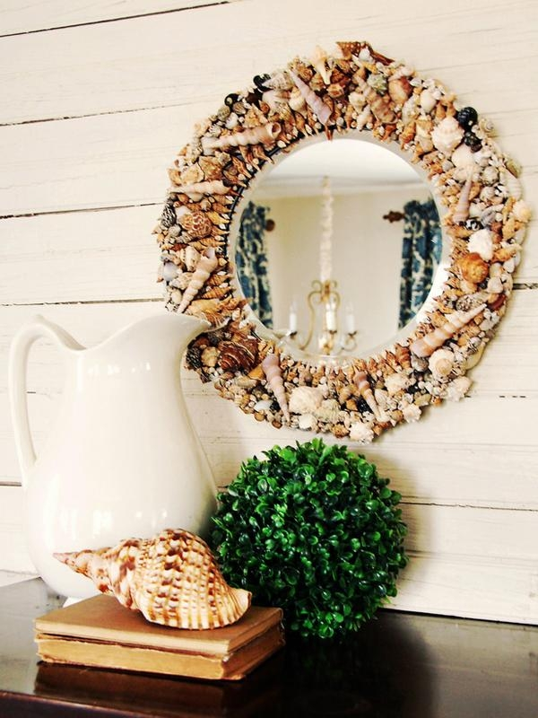 Beach Inspired Wall Art Crafts | Furnish Burnish Inside Diy Mirror Wall Art (Image 5 of 20)