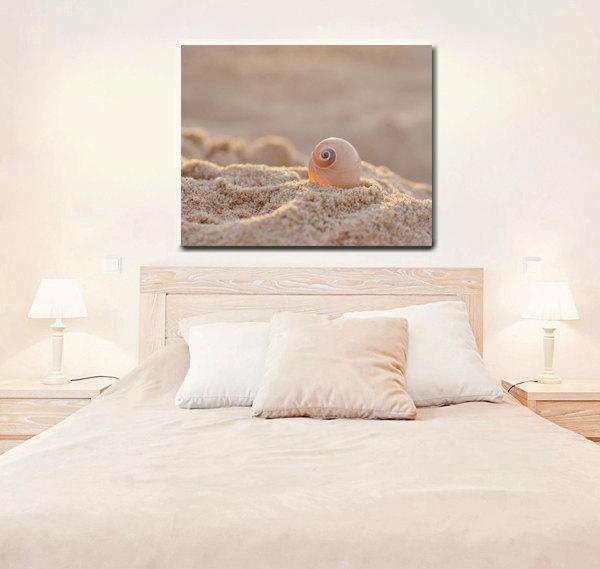 Beach Seashell Canvas Photography | Large Coastal Wall Art Canvas Regarding Neutral Wall Art (Image 6 of 20)