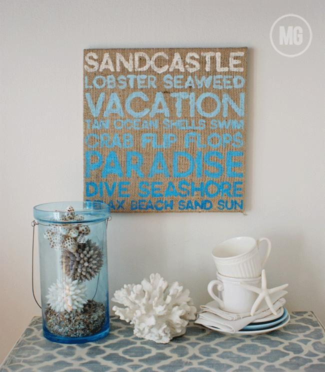 Beach Themed Wall Art Stunning Diy Wall Art For Unique Wall Art In Beach Theme Wall Art (Image 5 of 20)