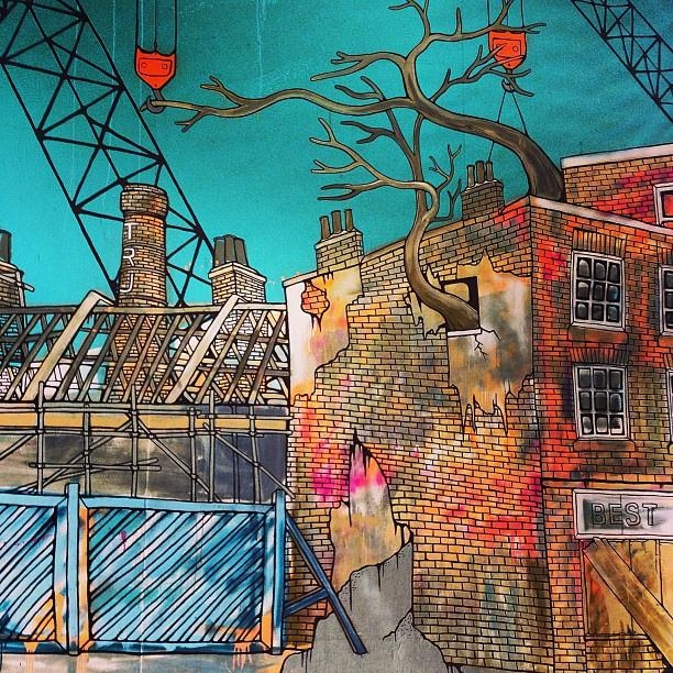 Beautiful #cityscape #wall #art At Thecube @celicamargo #t… | Flickr In Orange And Turquoise Wall Art (Image 4 of 20)