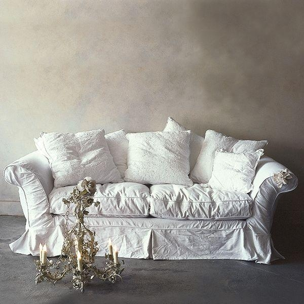 Beautify Your Ikea Sofa With Custom Long Skirt Slipcovers In Shabby Slipcovers (Image 7 of 20)