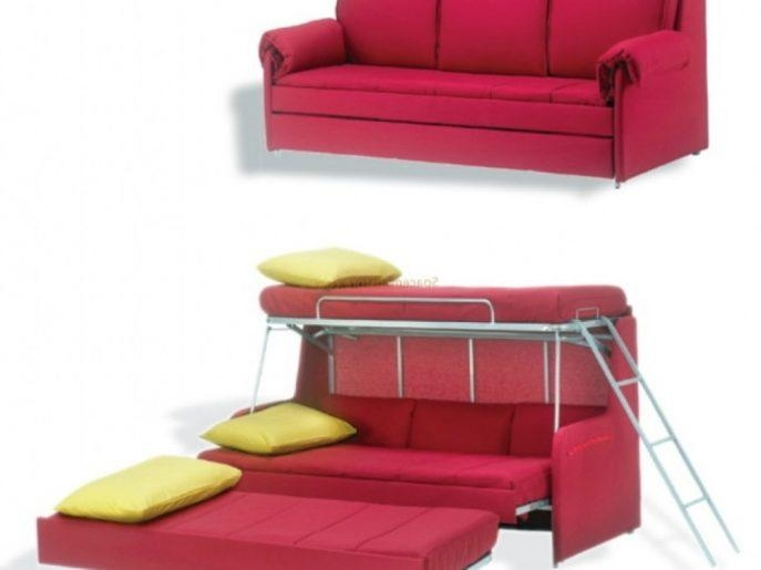 Bed Ideas : Stunning Russ Sofa Bed With Chaise For Sofa Converts Inside Sofas Converts To Bunk Bed (Image 2 of 20)