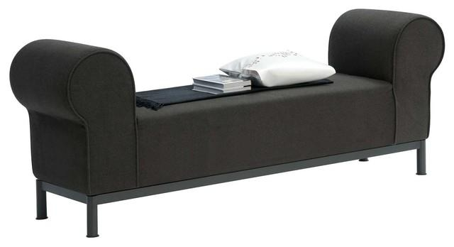 Bedroom Bench With Arms And Zuo Atom Left Arm Facing White Bench For Bedroom Bench Sofas (Image 6 of 20)