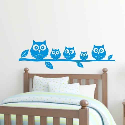 Bedroom Wall Stickers With Regard To Owl Wall Art Stickers (Image 9 of 20)