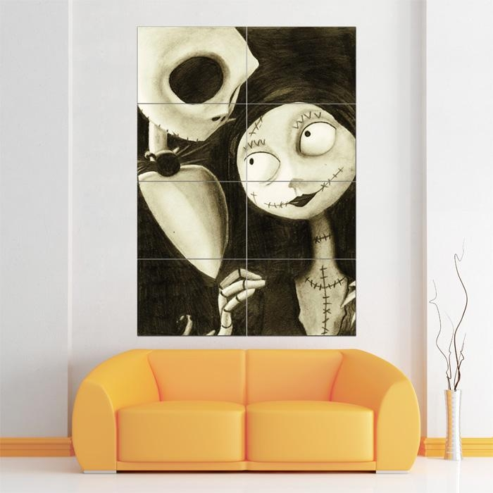 Before Christmas Block Giant Wall Art Poster Within Tim Burton Wall Decals (Image 7 of 20)