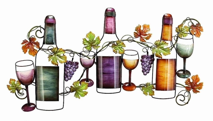 Benzara 63546 Wine Garden Metal Wall Art Decor Sculpture At Intended For Wine Metal Wall Art (Image 7 of 20)